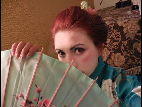 ♡Disfraz Geisha♡ Maquillaje y peinado para Halloween!!! ♡