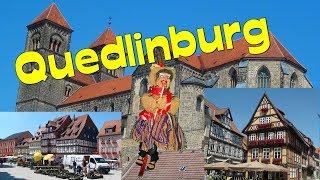 preview picture of video 'Quedlinburg-mittelalterliche Unesco-Weltkulturerbestadt *Domschatz *Doku *Stadtrundgang'