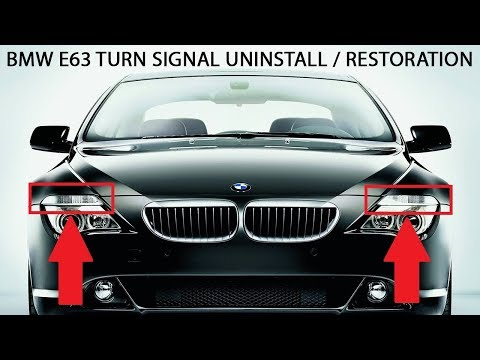 BMW e63 6-series Turn Signal Restoration Replacement