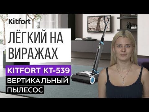 УДОБНЫЙ В УПРАВЛЕНИИ | Вертикальный пылесос Kitfort KT-539