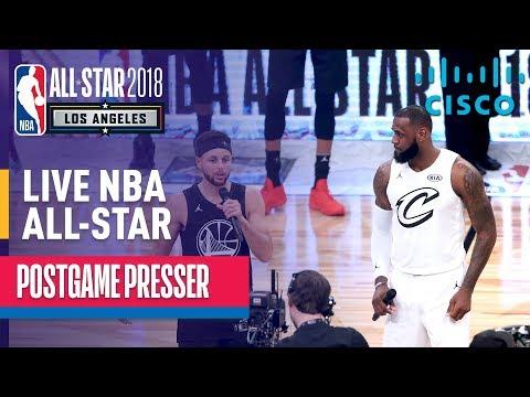 LIVE: Team LeBron vs Team Stephen 2018 NBA All-Star Postgame Presser