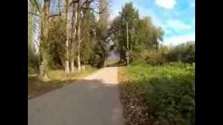 Haciendo carretera en los Alpes