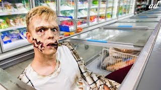 I Turned A Supermarket Into A Zombie Movie For Halloween