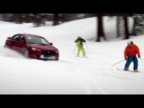 Evo versus Skiers | Top Gear USA | Series 1