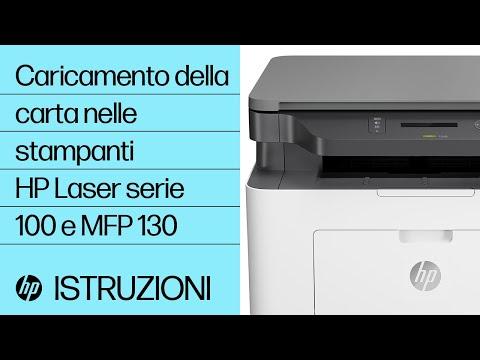 Caricamento della carta nelle stampanti HP Laser serie 100 e MFP 130