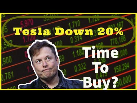 Tesla (TSLA) Stock Down 20%!! Is It Time To Buy??