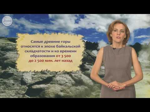 Рельеф территории России, развитие форм рельефа