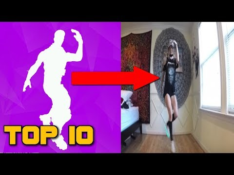 TOP 10 FORTNITE DANCE MOVES IN REAL LIFE! (Fortnite Battle Royale)