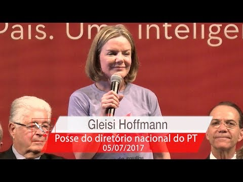 Gleisi Hoffmann   Posse do Diretório Nacional do PT