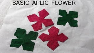 BASIC APLIC WORK TUTORIAL FOR BEGINNERS/APPLIQUE WORK/RILLI WORK/PATCH WORK/HAND EMBROIDERY#46