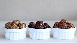 מתכון לשלושה סוגים של כדורי תמרים בריאים