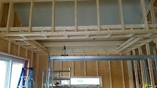 Continuing #jarleifhouse kitchen tray ceiling!