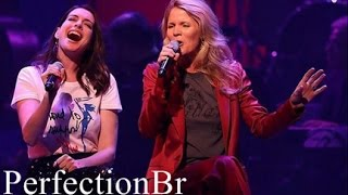 Anne Hathaway and Kelli singing Get Happy/Happy days are here again - Hillary Clinton Fundraiser