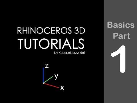 RHINO TUTORIAL - Basics session #1 of 6 - YouTube