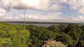 preview picture of video 'View from the top of the Tall Temple, Lamanai, Belize'