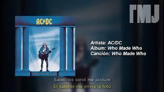 Letra Traducida Who Made Who de AC/DC