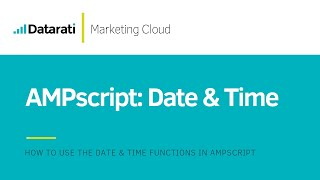 AMPscript DateTime Functions in Salesforce Marketing Cloud