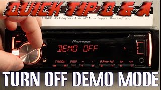 How to turn off demo mode on your Pioneer DEH radio
