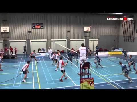 Kwart finale beker Set Up IJsselmuiden - VVH uit Harlingen Volleybal