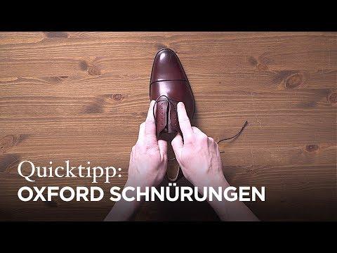 Tutorial: Schnürmethoden für Oxford Schuhe