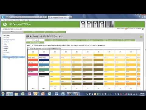 HP Designjet T7100 Embedded Web Server