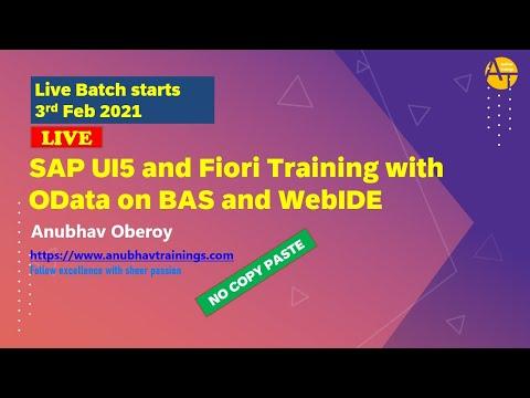 SAP UI5, Fiori and OData Certification Training   LIVE Batch Fiori ...