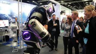 NOX the Robot at exhibition