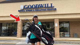 We Found THESE Golf Clubs In MINT Condition At GOODWILL!! (Crazy Price!!)