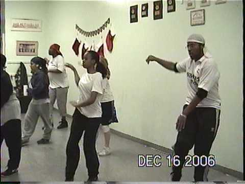 CrazyCee me teaching my dancers in training in NYC a salsa funky routine to Celia Cruz...