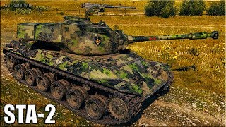 STA-2 внизу списка 🌟 ДУРАКАМ ВЕЗЁТ 🌟 World of Tanks бой на прем танке 8 уровня