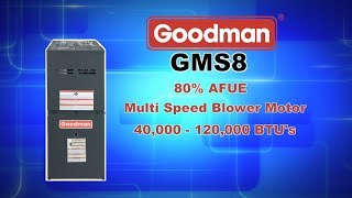 GMS8 Series 80% AFUE Goodman Gas Furnace