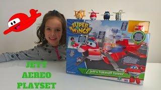 JETT AEREO PLAYSET! Super Wings! Jett's Take Off Tower