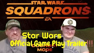 Star Wars Squadrons Official Game Play Trailer!!! REACTION!!
