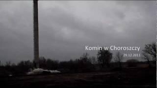 preview picture of video 'Wyburzenie komina żelbetowego na terenie szpitala w Choroszczy'