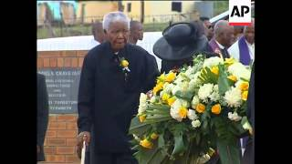 Former president attends funeral of son who died from Aids
