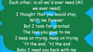 BackStreet Boys - Everytime I Close My Eyes.(with lyrics)