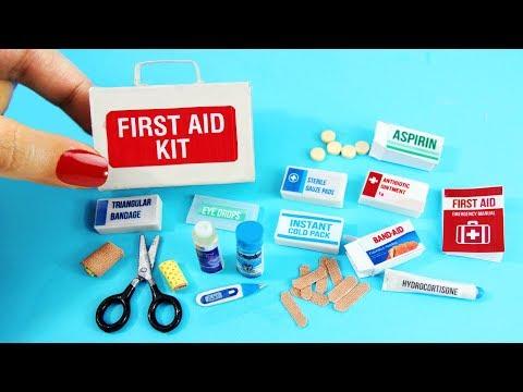 Cómo Hacer Botiquín de primeros auxilios en miniatura -10 manualidades fáciles para muñecas