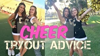 Cheer tryout tips/freshman advice!