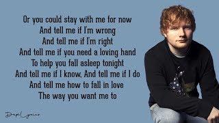 Ed Sheeran - Cold Coffee (Lyrics)