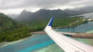 United Airlines B737-800 - Honolulu to Guam - 6 Takeoffs & Landings