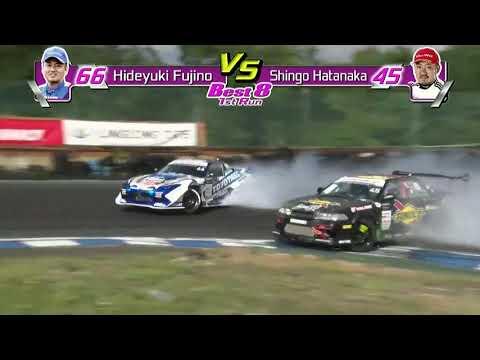 D1グランプリ 第6戦エビス 藤野 秀之選手のドリフト動画