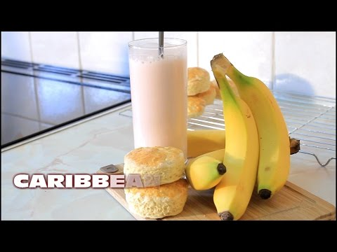 Banana Milk Shake Drink Recipe From  Chef Ricardo Cooking
