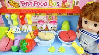 Baby doll and grill kitchen food cooking toys play | Funny kids songs Abc