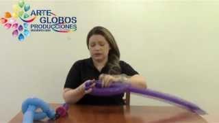 Cursos de Globos Globoflexia: Espada tipo Sable en twister 260 balões