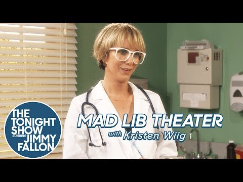 Mad Lib Theater with Kristen Wiig (видео)