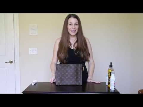 Video How to fix peeling or stickiness in Louis Vuitton bags and linings.