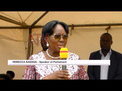 Speaker Kadaga launches the construction of reusable pads factory in Bushenyi