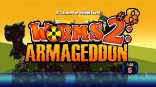 Lets Play Worms 2: Armageddon (with Friends!) - 8 - Rope Racing (Gameplay/Commentary)