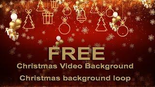 free Christmas background video | Christmas Video - Animated Background Loop | Merry Christmas video