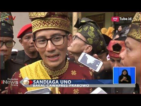 Asli Kelahiran Riau, Sandiaga Uno Ikuti Upacara Adat Tepung Adat di Pekanbaru - BIS 05/09